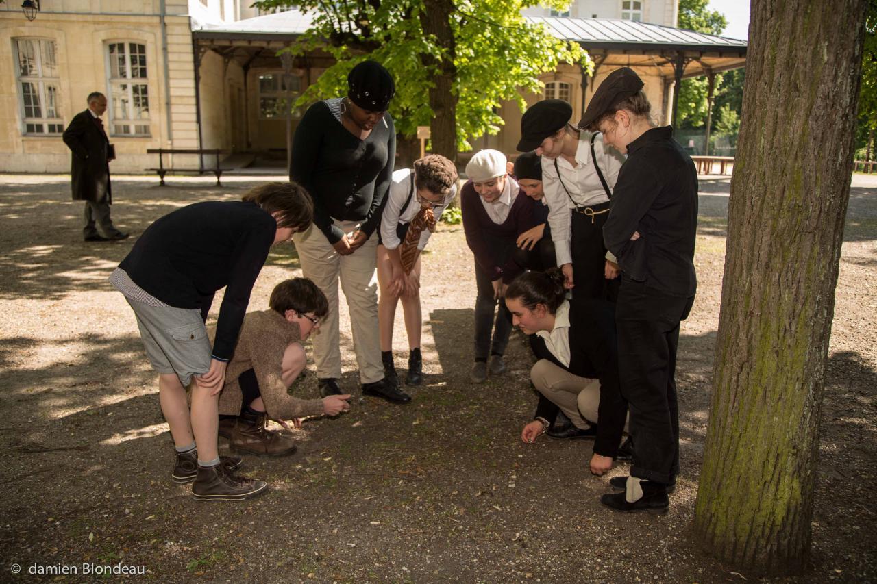 Le jardin et la cour des tilleuls - Photo Damien Blondeau