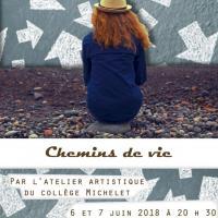 Affiche spectacle chemins de vie 2018