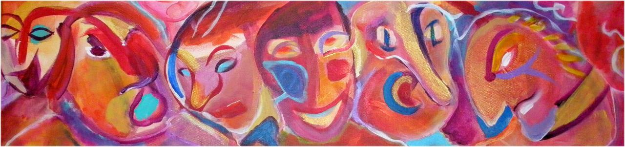 Festifs - Acrylique sur toile - février 2012 - 80/20