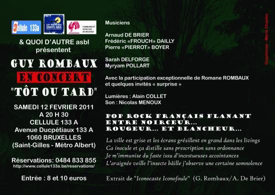 Carte postale - Guy Rombaux - Tôt ou tard Verso