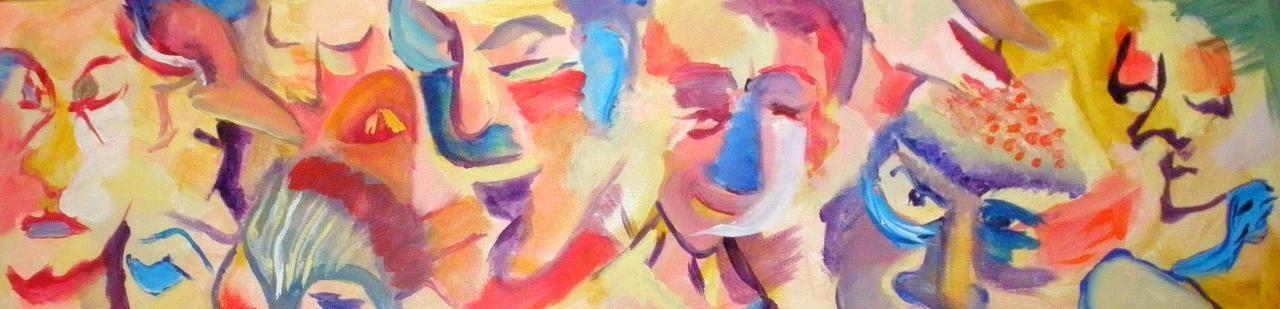 Les festifs 1 - Acrylique sur toile 20/80