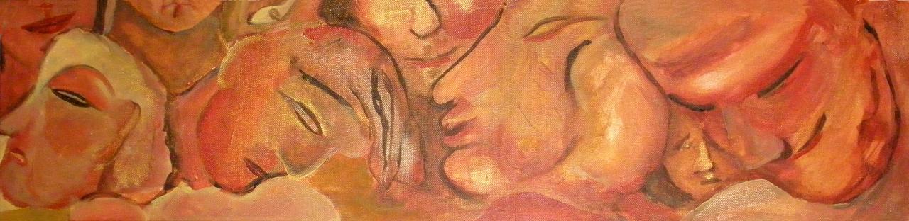 Les festifs 3 - Acrylique sur toile 20/80
