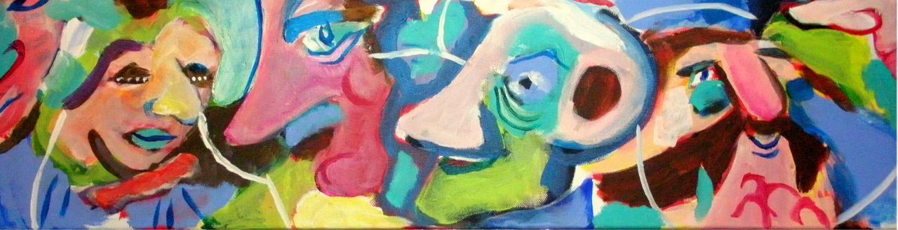 Les festifs 4 - Acrylique sur toile 20/80